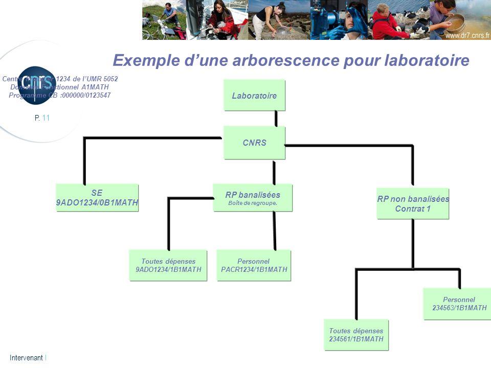 Exemple d'une arborescence pour laboratoire