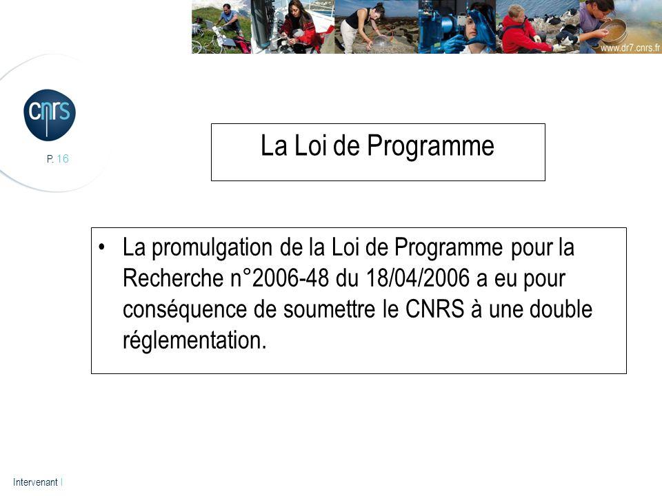 La Loi de Programme