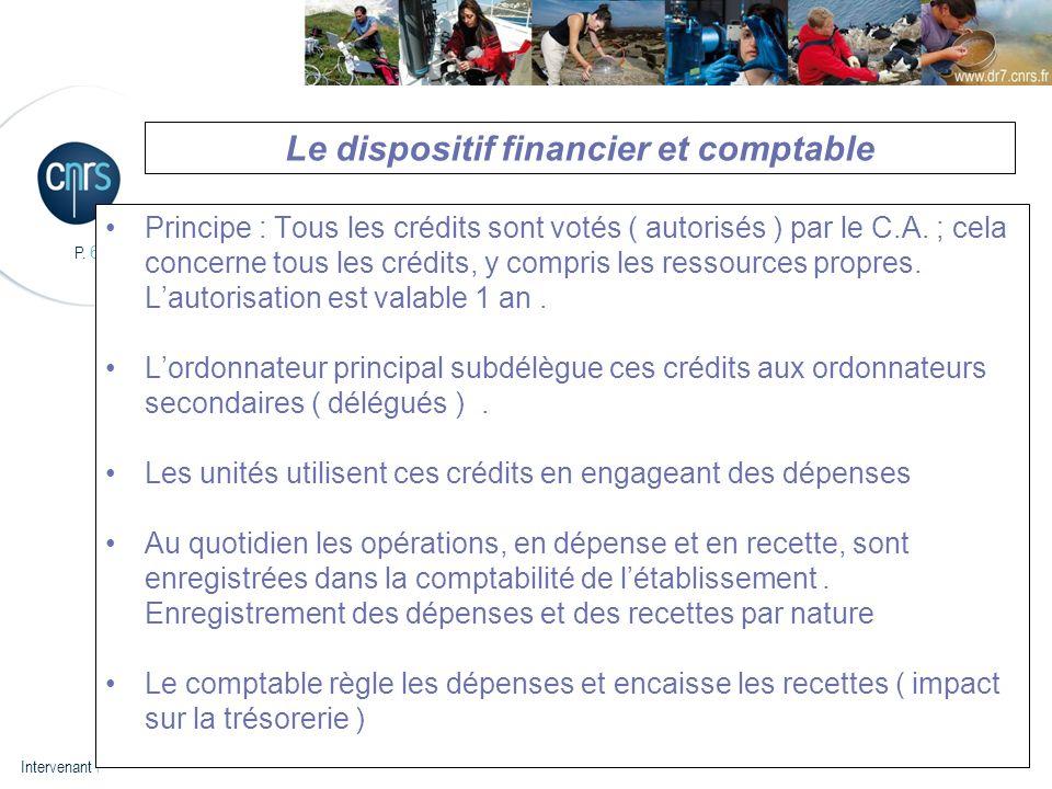 Le dispositif financier et comptable