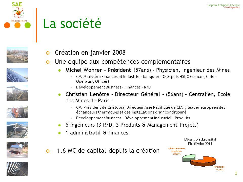 La société Création en janvier 2008