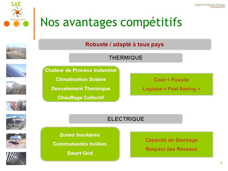 Nos avantages compétitifs