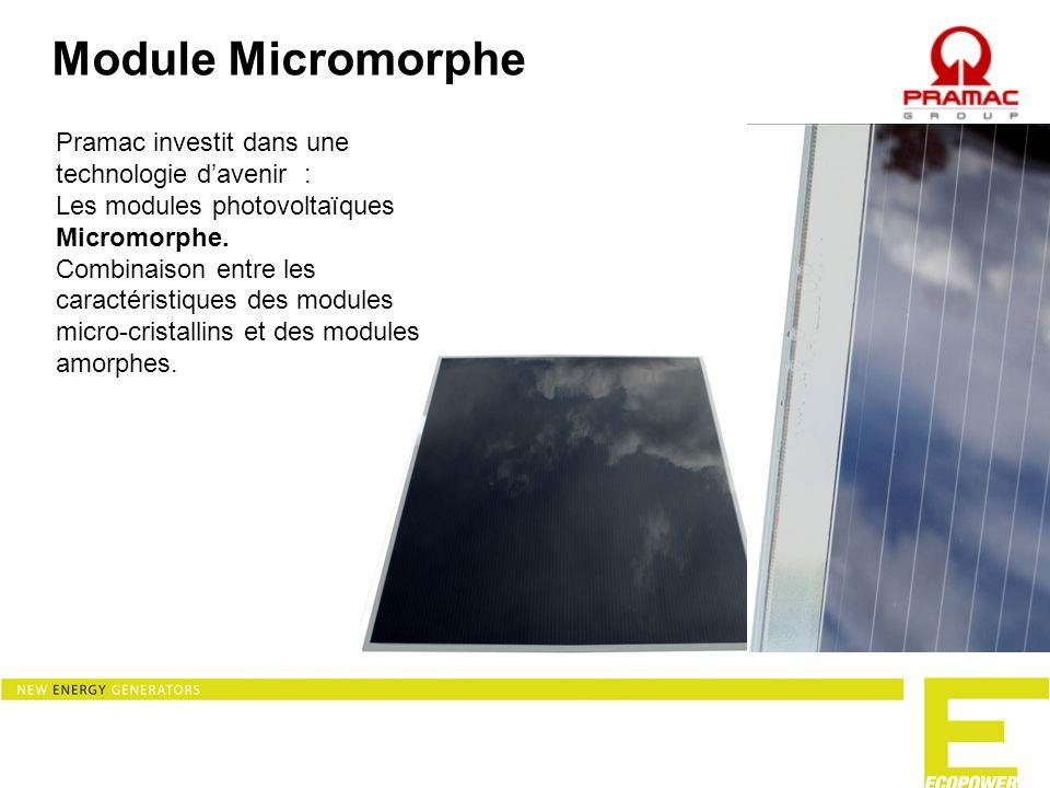 Module Micromorphe Pramac investit dans une technologie d'avenir :