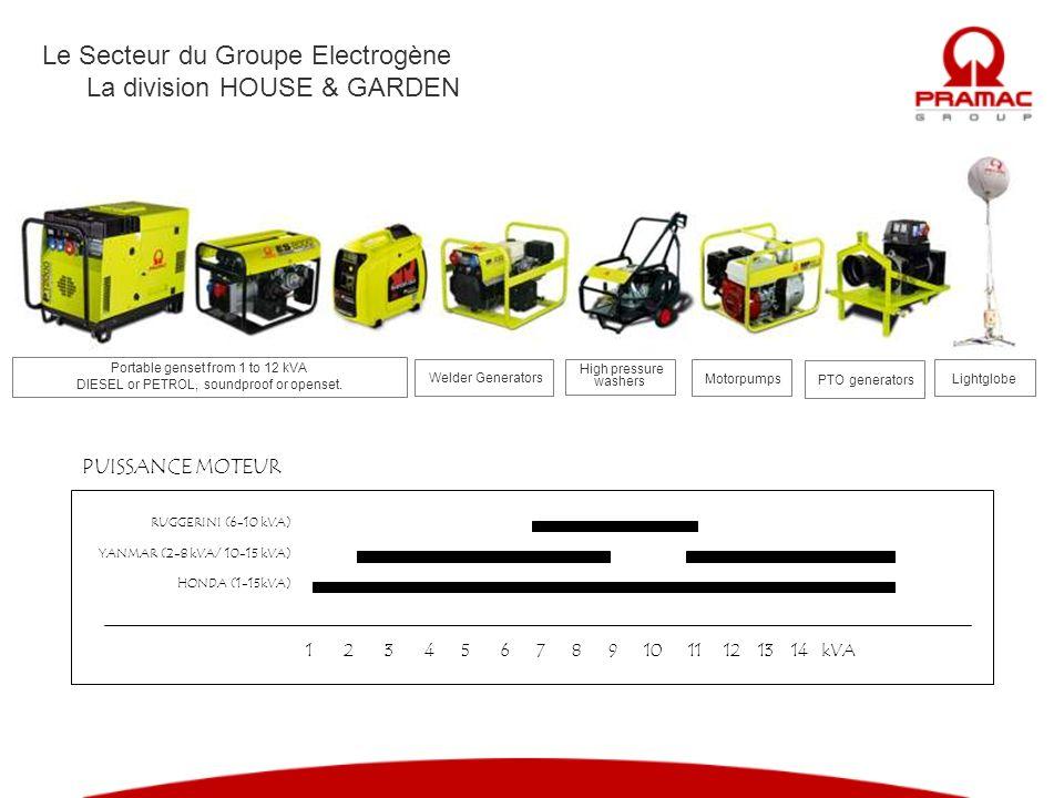 Le Secteur du Groupe Electrogène La division HOUSE & GARDEN