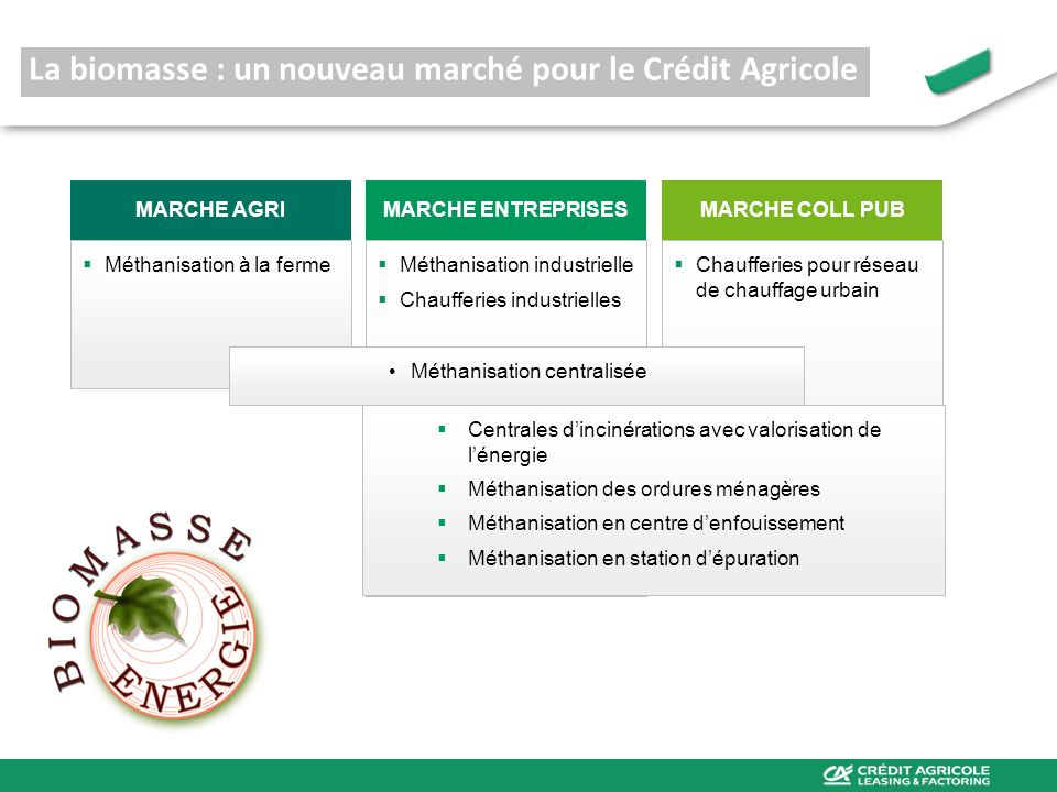 La biomasse : un nouveau marché pour le Crédit Agricole
