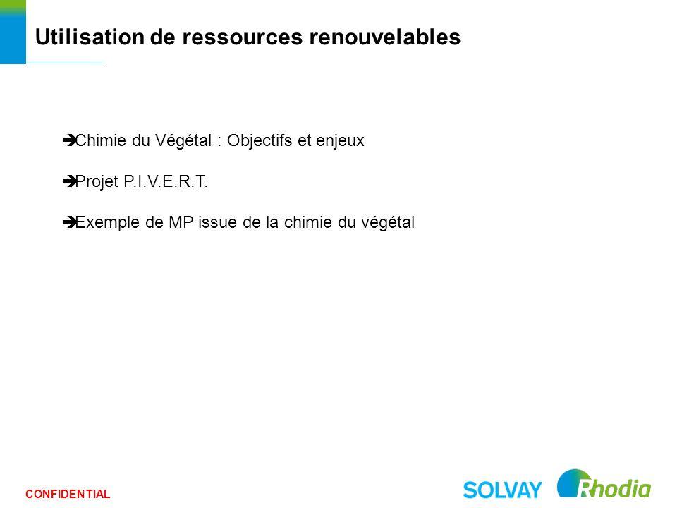 Utilisation de ressources renouvelables