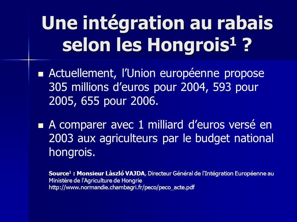Une intégration au rabais selon les Hongrois1