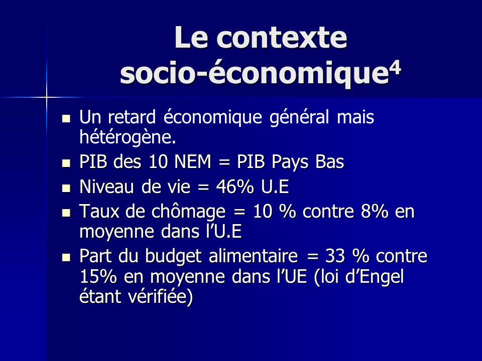 Le contexte socio-économique4