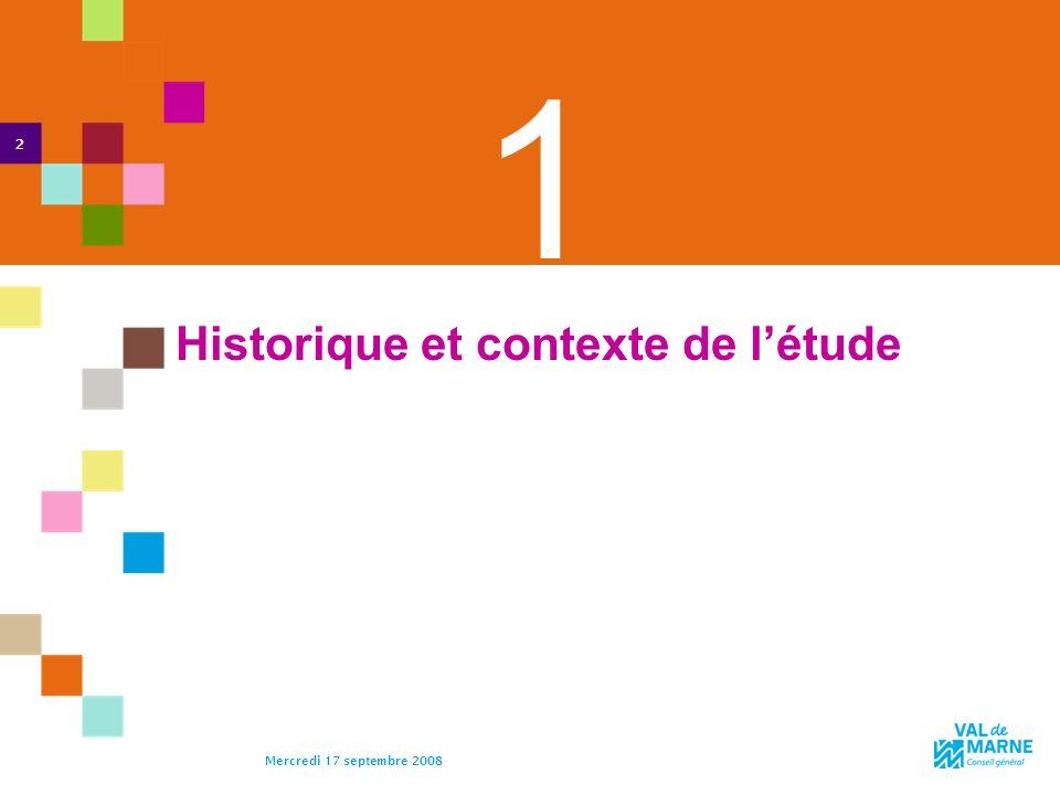 Historique et contexte de l'étude