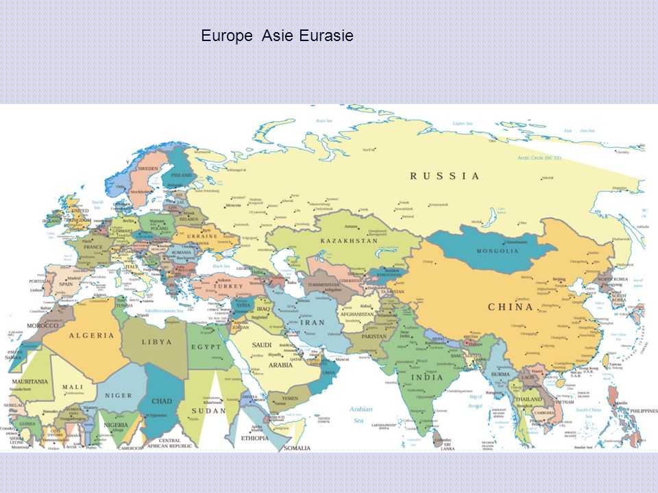 Europe Asie Eurasie