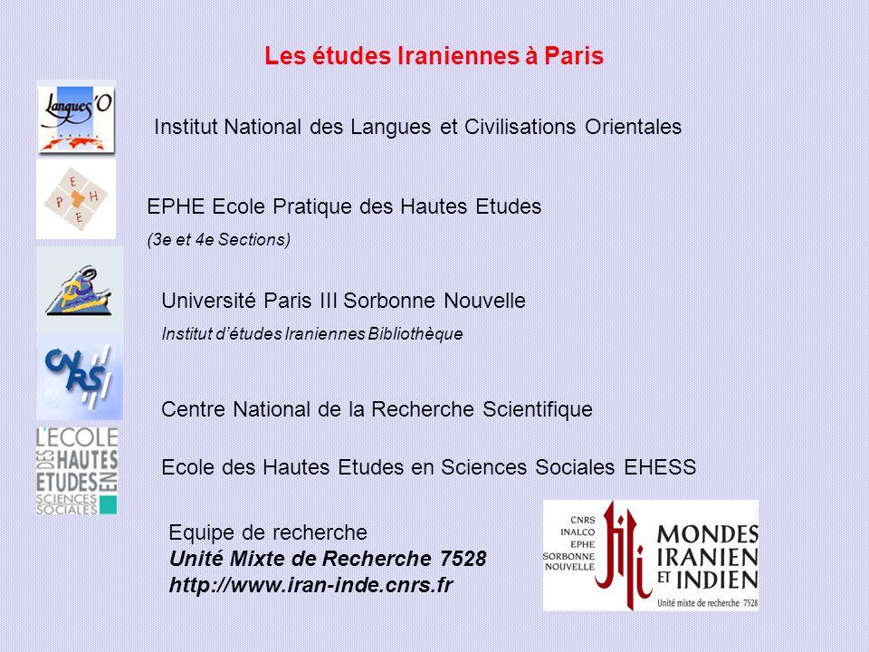 Les études Iraniennes à Paris