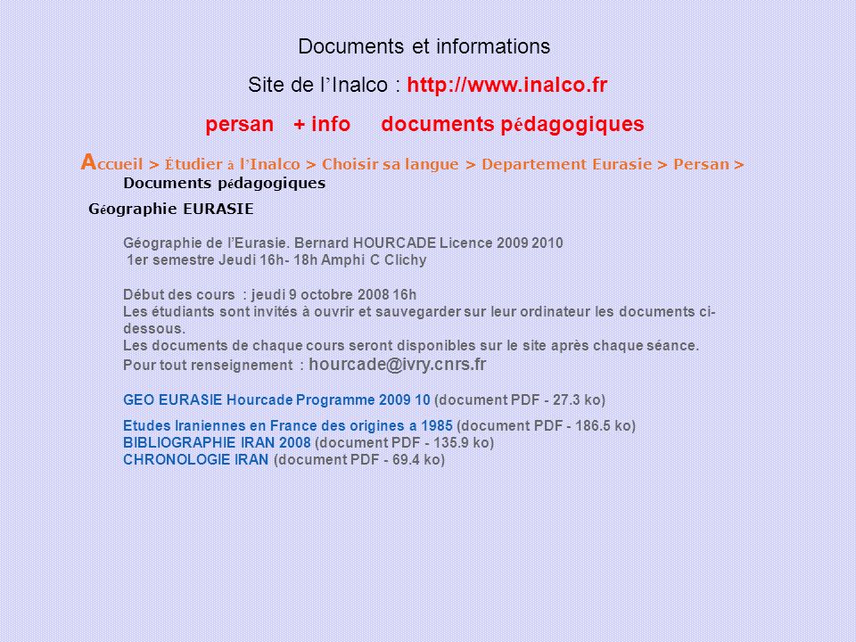 persan + info documents pédagogiques