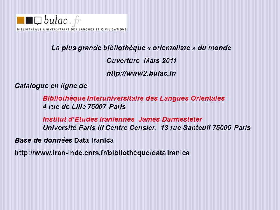 La plus grande bibliothèque « orientaliste » du monde