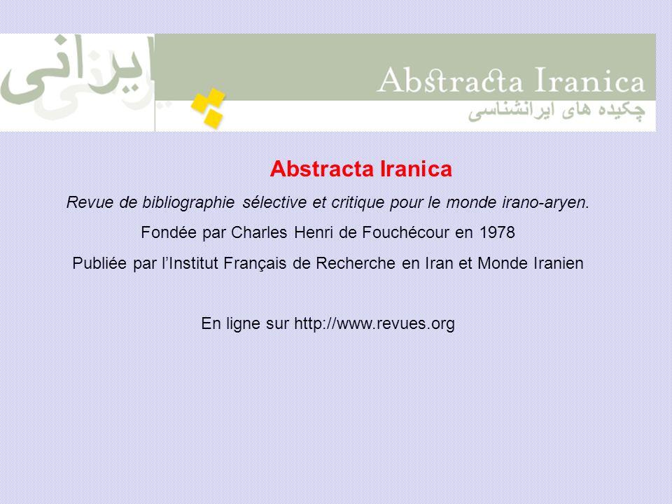 Fondée par Charles Henri de Fouchécour en 1978