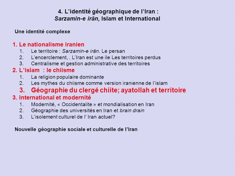 Géographie du clergé chiite; ayatollah et territoire