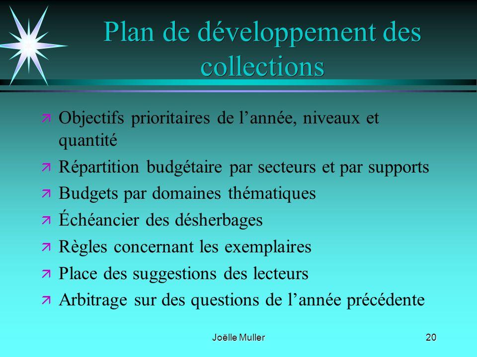 Plan de développement des collections