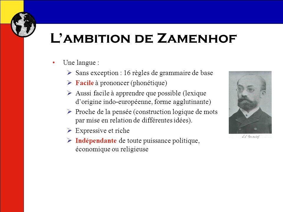 L'ambition de Zamenhof