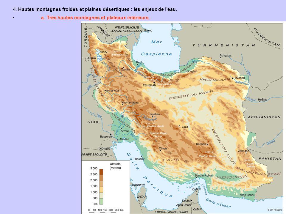 I. Hautes montagnes froides et plaines désertiques : les enjeux de l'eau.