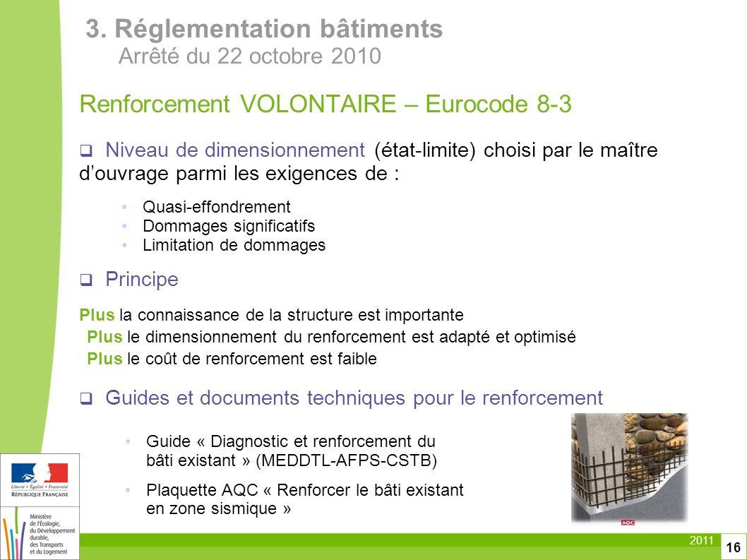 3. Réglementation bâtiments