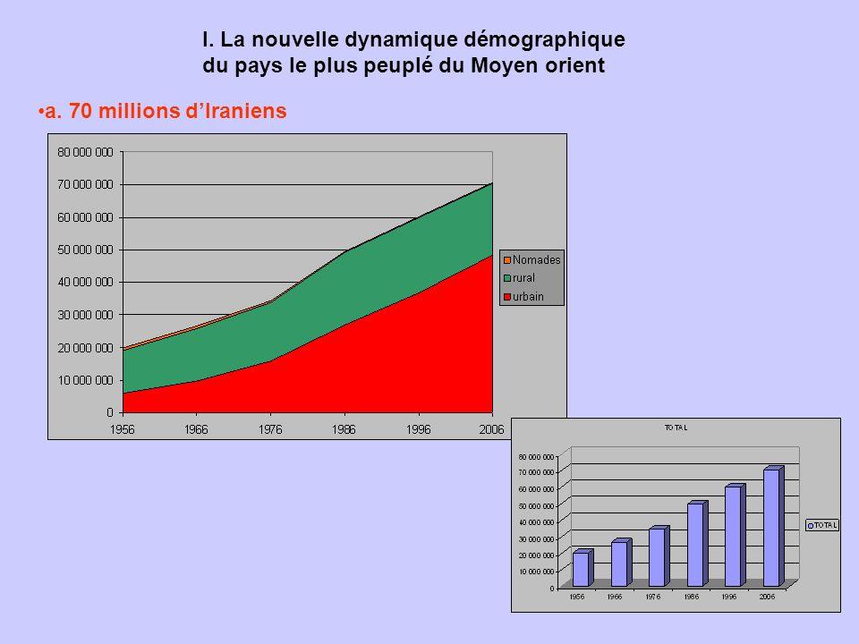 I. La nouvelle dynamique démographique du pays le plus peuplé du Moyen orient