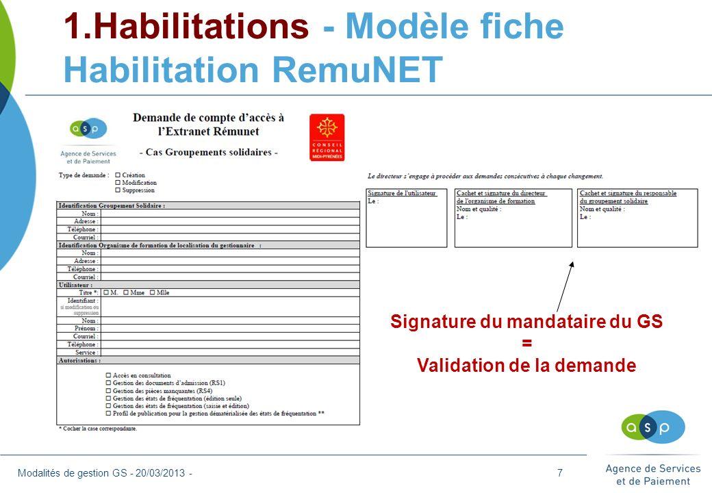 1.Habilitations - Modèle fiche Habilitation RemuNET