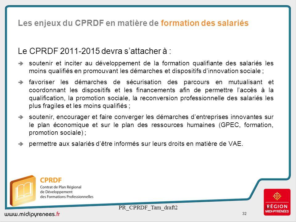 Les enjeux du CPRDF en matière de formation des salariés