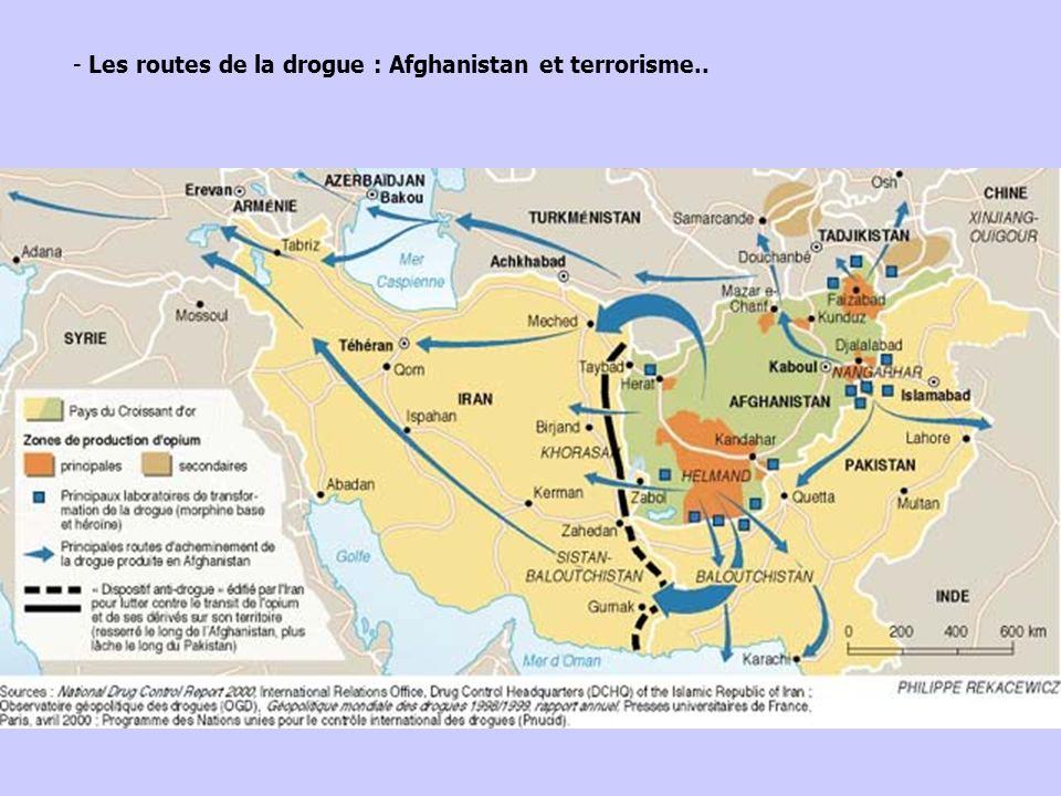 - Les routes de la drogue : Afghanistan et terrorisme..