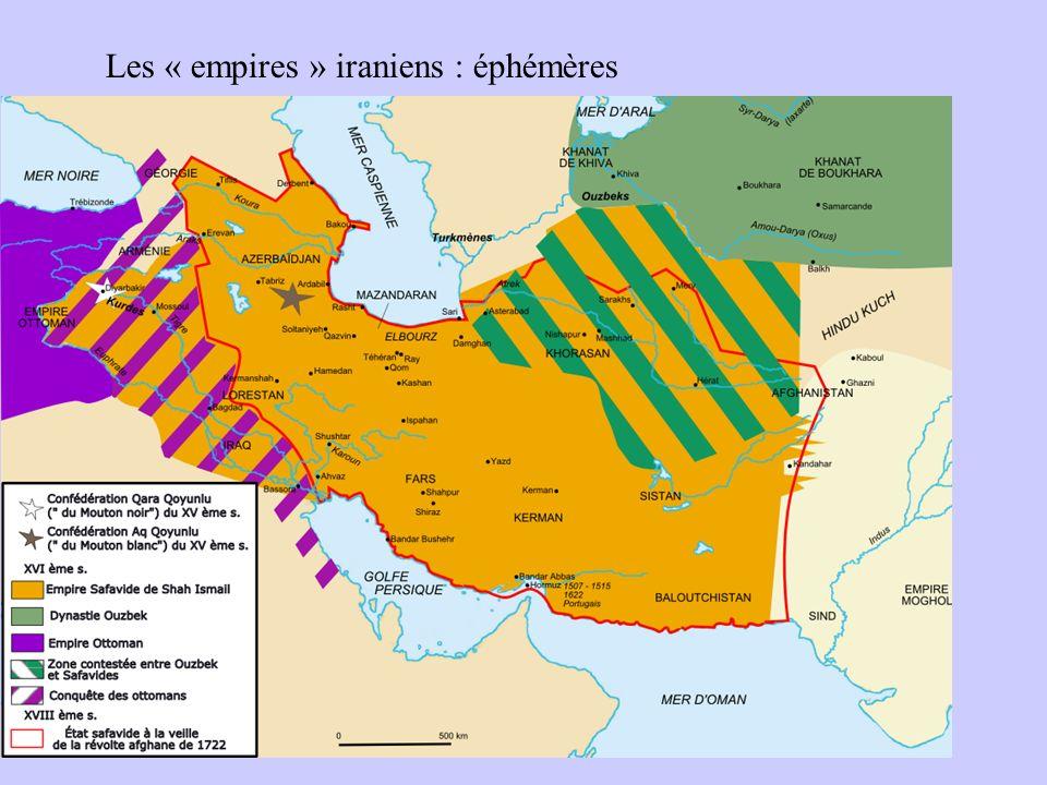 Les « empires » iraniens : éphémères