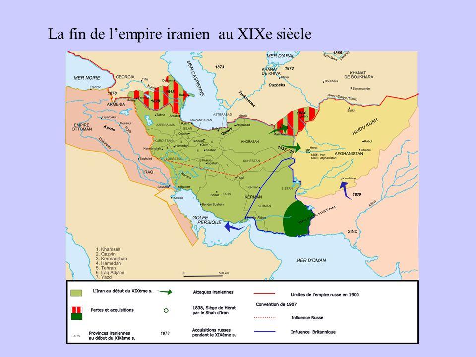 La fin de l'empire iranien au XIXe siècle
