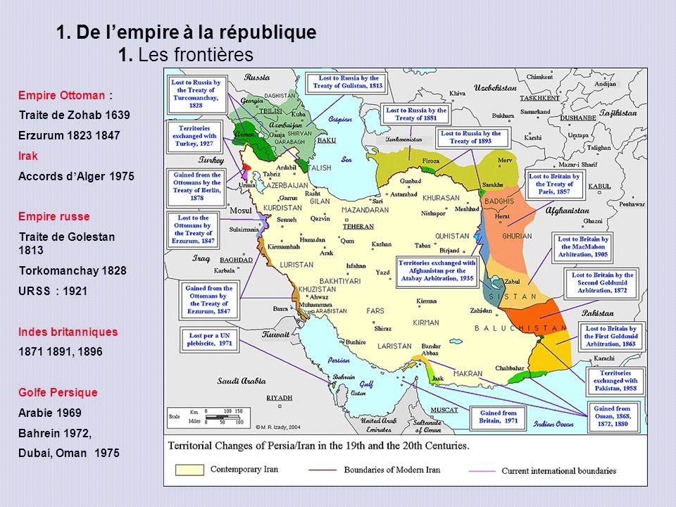 1. De l'empire à la république 1. Les frontières