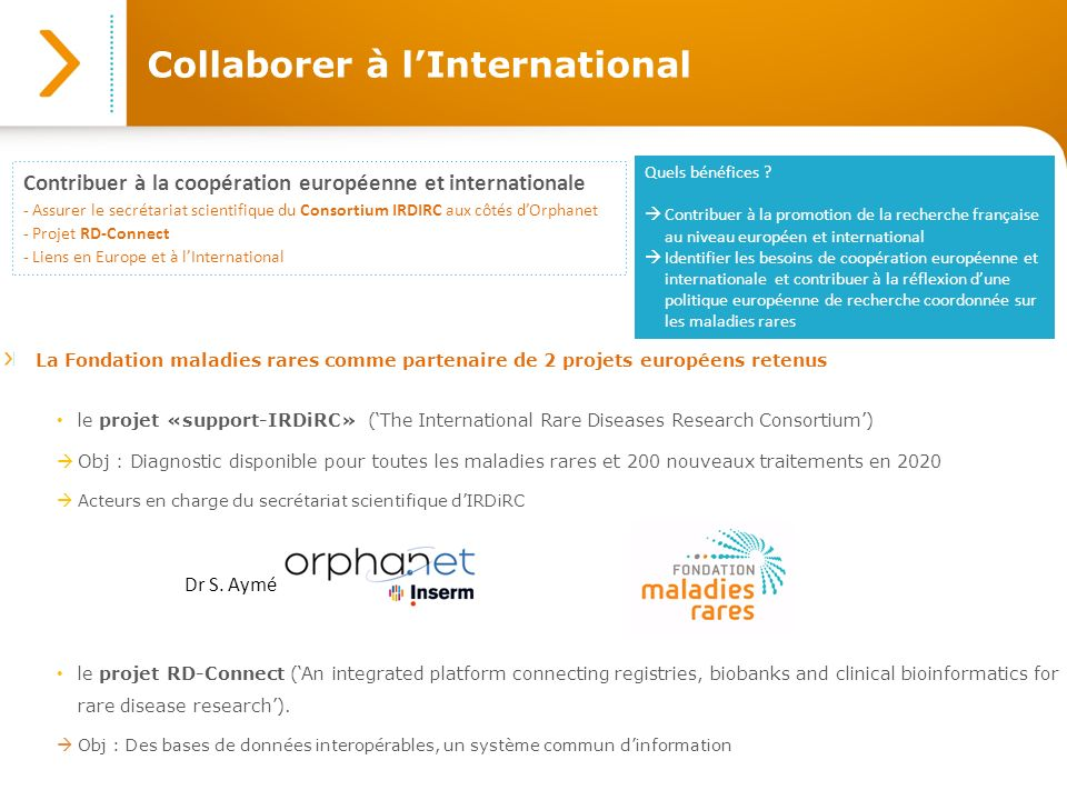Collaborer à l'International