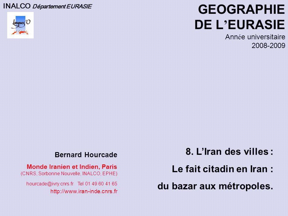 GEOGRAPHIE DE L'EURASIE