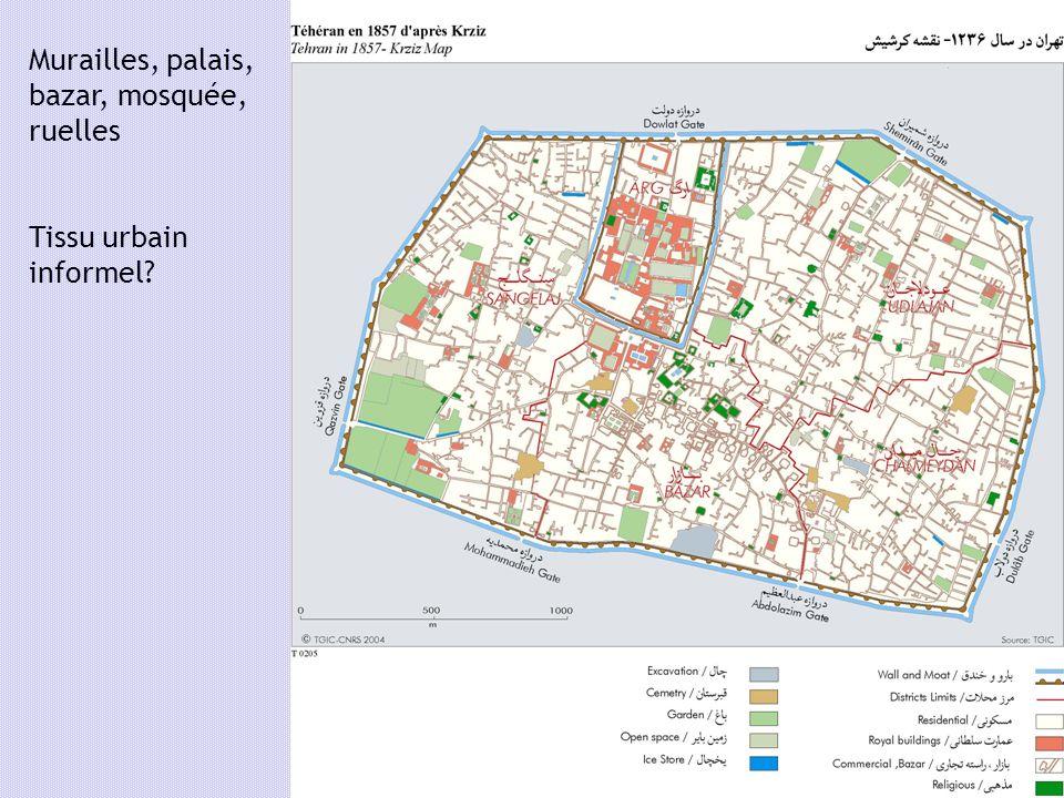 Murailles, palais, bazar, mosquée, ruelles