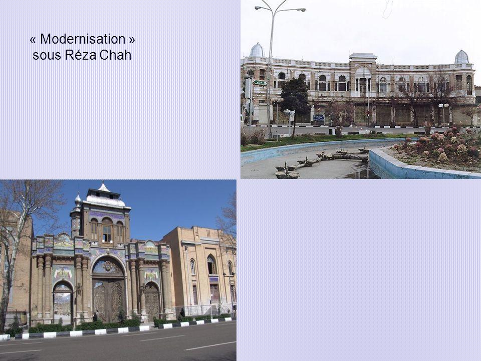 « Modernisation » sous Réza Chah