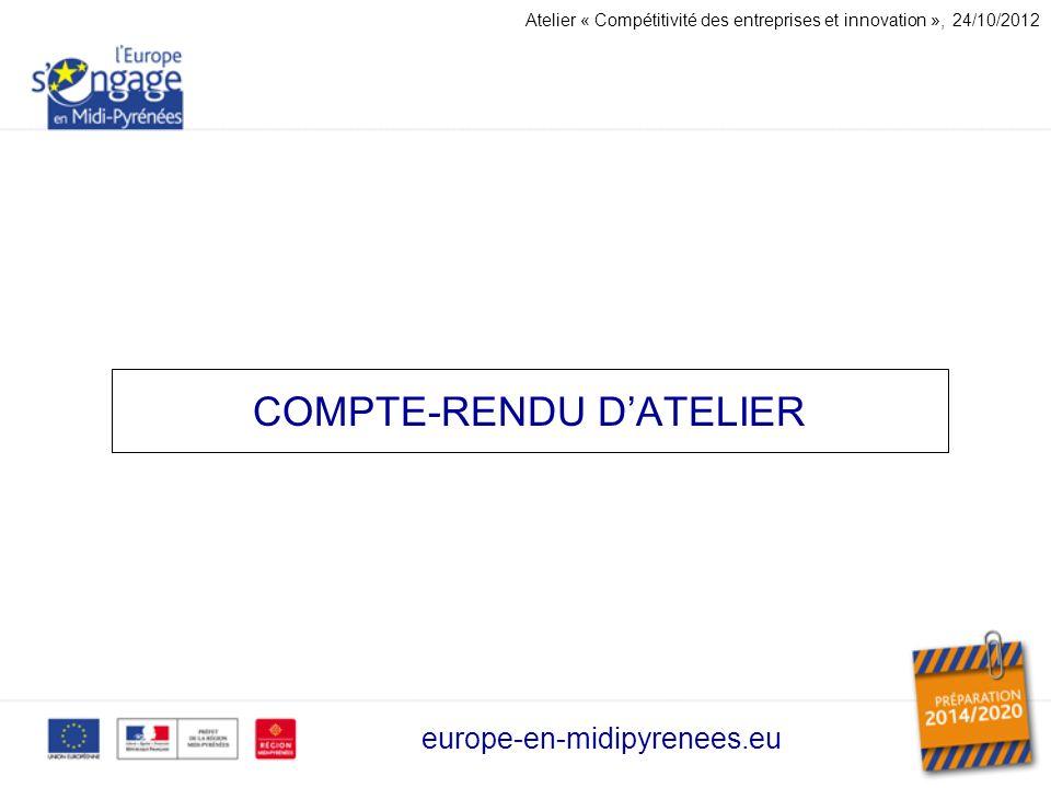 COMPTE-RENDU D'ATELIER