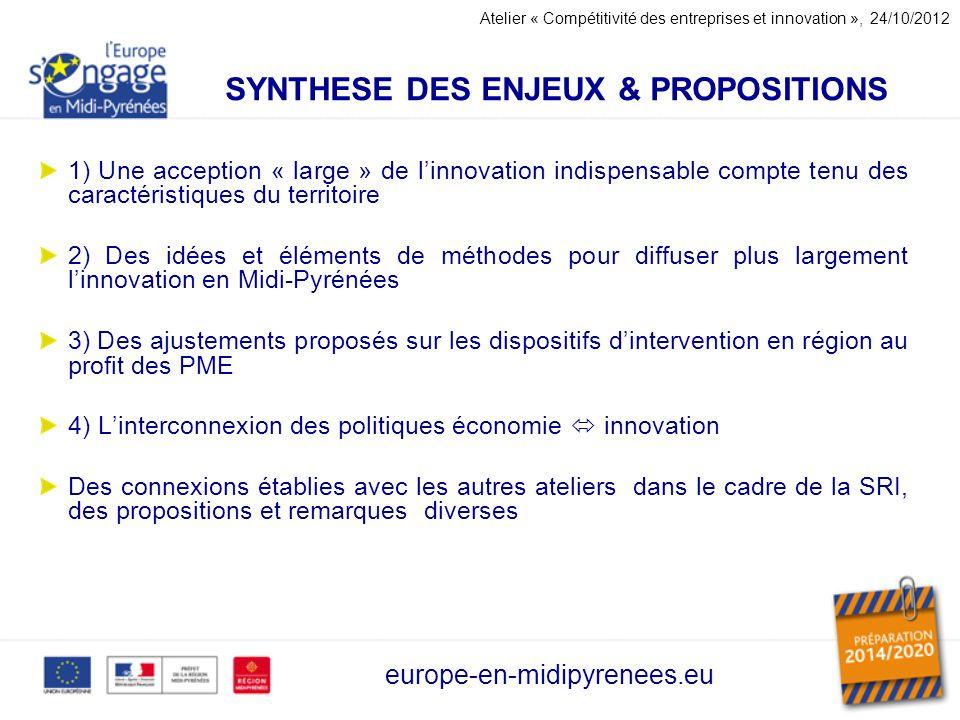 SYNTHESE DES ENJEUX & PROPOSITIONS
