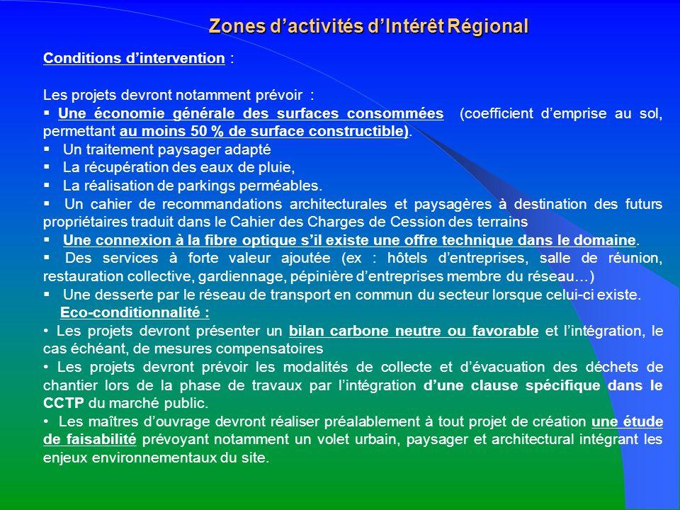 Zones d'activités d'Intérêt Régional