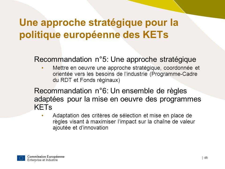 Une approche stratégique pour la politique européenne des KETs