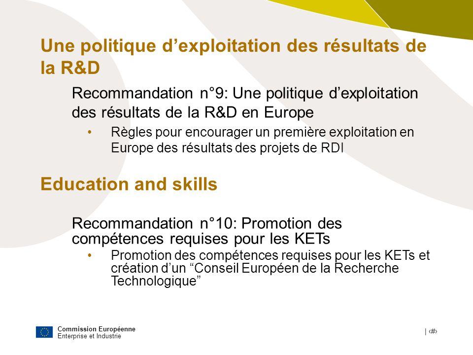 Une politique d'exploitation des résultats de la R&D