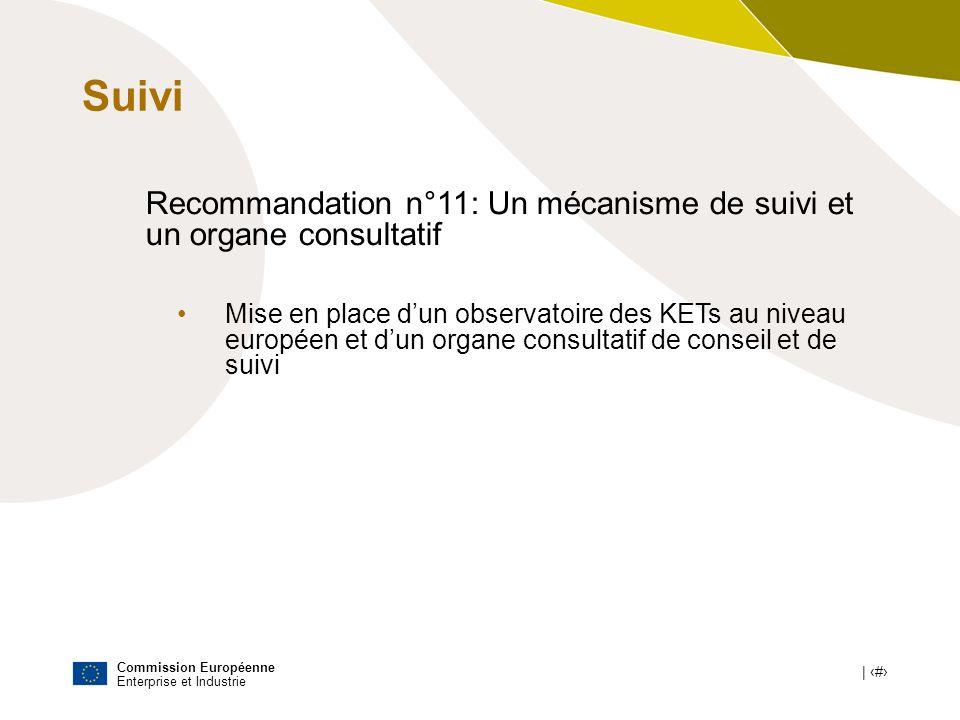 SuiviRecommandation n°11: Un mécanisme de suivi et un organe consultatif.