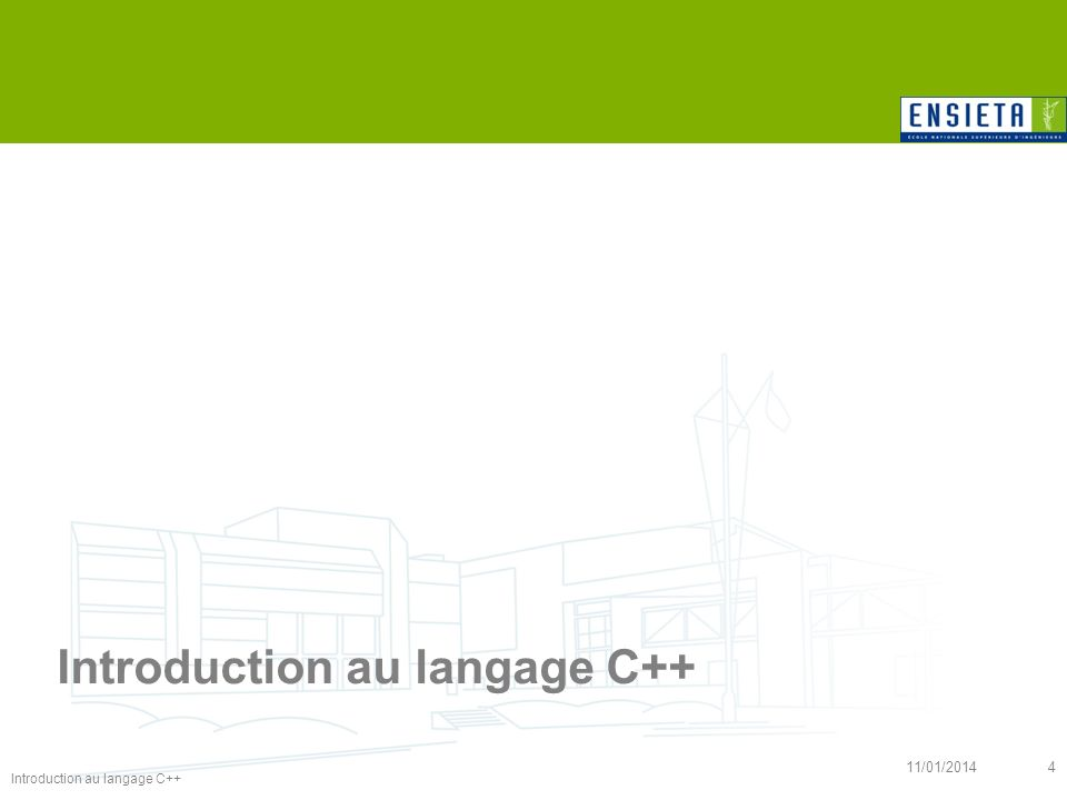 Introduction au langage C++