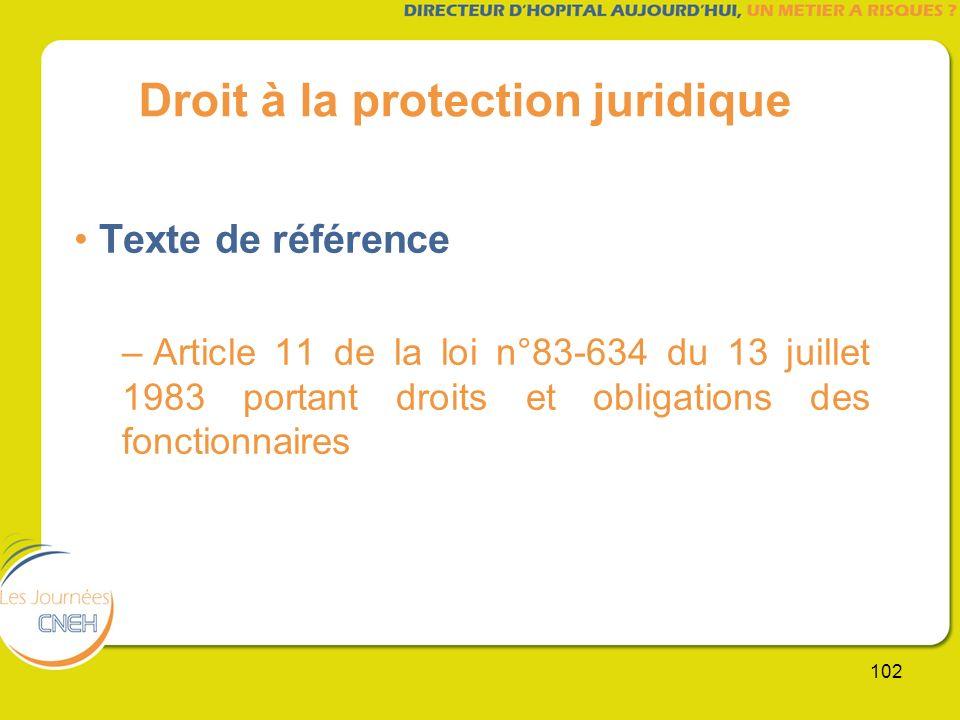 Droit à la protection juridique