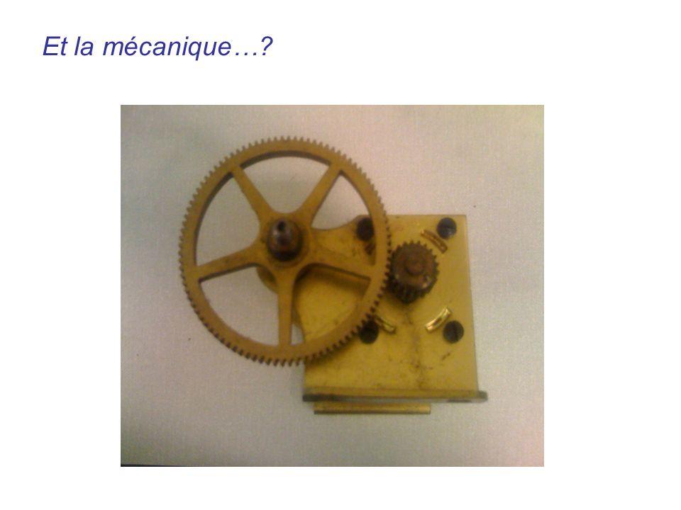 Engrenages Et la mécanique…