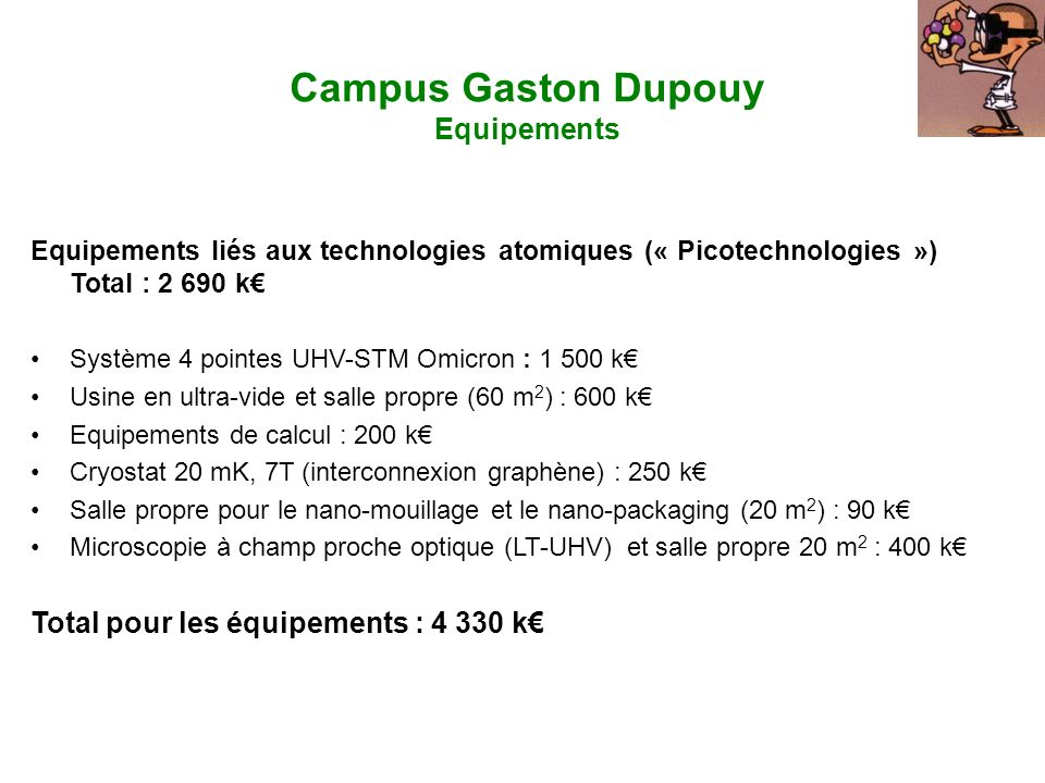 Campus Gaston Dupouy Equipements