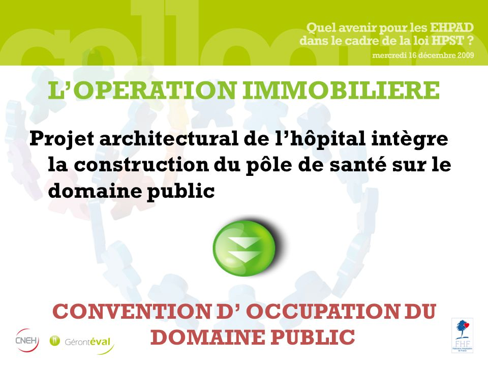 L'OPERATION IMMOBILIERE