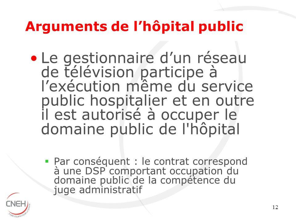Arguments de l'hôpital public