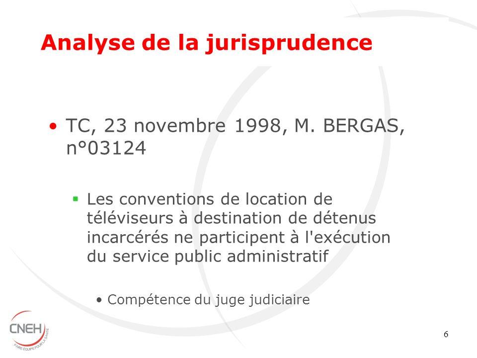 Analyse de la jurisprudence
