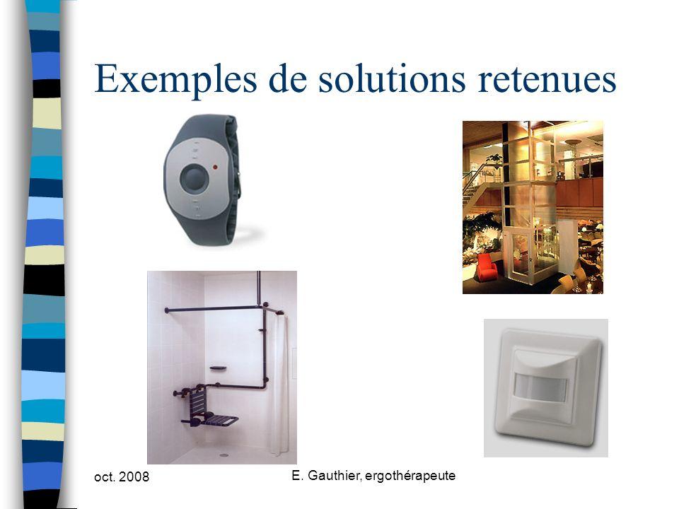 Exemples de solutions retenues