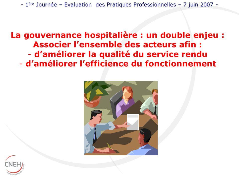 La gouvernance hospitalière : un double enjeu :