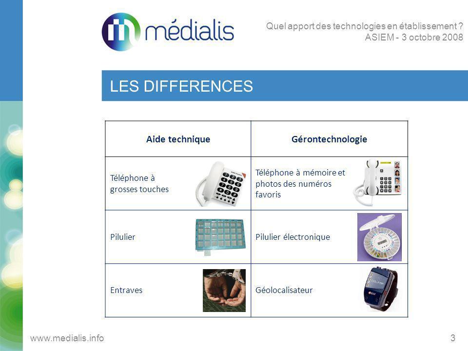 LES DIFFERENCES Aide technique Gérontechnologie