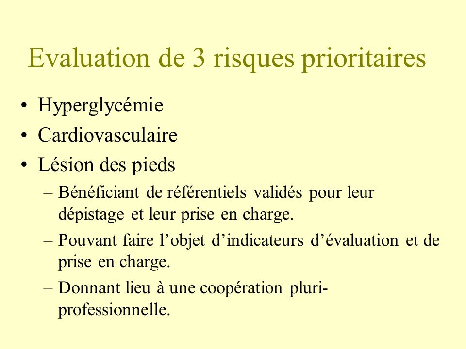 Evaluation de 3 risques prioritaires